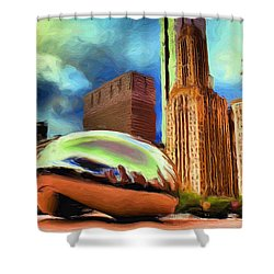 The Bean - 20 Shower Curtain