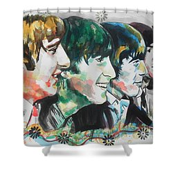 The Beatles 01 Shower Curtain