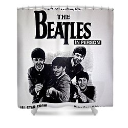 The Beatles Circa 1964 Shower Curtain
