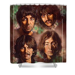 The Beatles Shower Curtain by Tim  Scoggins