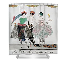 The Beautiful Savages Shower Curtain by Georges Barbier
