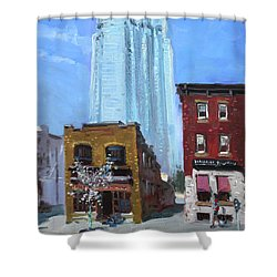 The Beauty N' The Background In London Canada Shower Curtain by Ylli Haruni