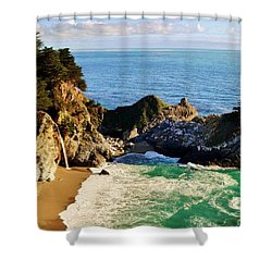 The Beauty Of Big Sur Shower Curtain by Benjamin Yeager