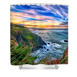 The Beauty Of Big Sur Shower Curtain by Michael Pickett