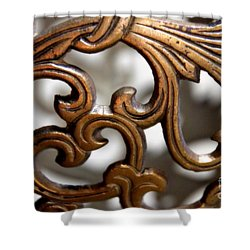 The Beauty Of Brass Scrolls 1 Shower Curtain