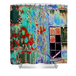 The Beauty Of Steel Shower Curtain