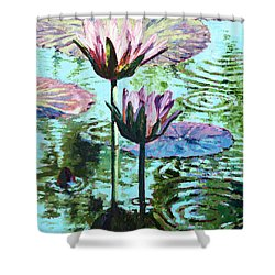 The Beauty Of The Lilies Shower Curtain by John Lautermilch