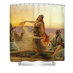 The Bedouin Dancer Shower Curtain by Otto Pilny