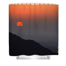 The Beginning Shower Curtain by Hannes Cmarits