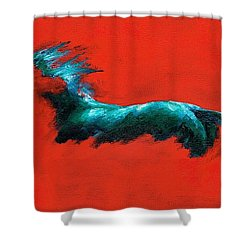 The Beginning Of Life Shower Curtain by Frances Marino