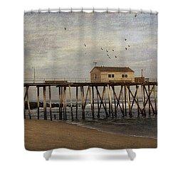 The Belmar Fishing Club Pier Shower Curtain