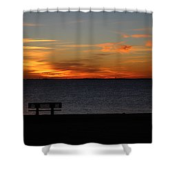 Shower Curtain featuring the photograph The Bench by Faith Williams