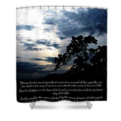 The Bible Psalm 1 Shower Curtain