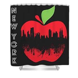 the Big Apple Shower Curtain by Mark Ashkenazi