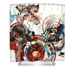 The Big Bang Shower Curtain by Kris Haas