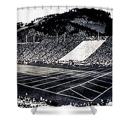 The Big Game 1919 Shower Curtain by Benjamin Yeager