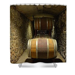 The Biltmore Estate Wine Barrels Shower Curtain by Luther Fine Art