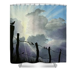 The Birds - Make A Joyful Noise Shower Curtain
