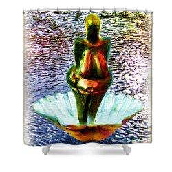 Shower Curtain featuring the digital art The Birth Of Vestonice Venus by Daniel Janda