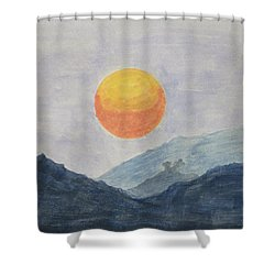 The Birth Shower Curtain by Sonali Gangane