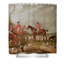 The Birton Hunt Shower Curtain by John E Ferneley
