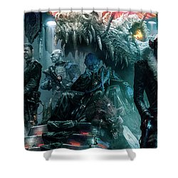 The Black Hole Gang Shower Curtain