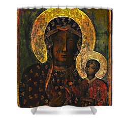 The Black Madonna Shower Curtain