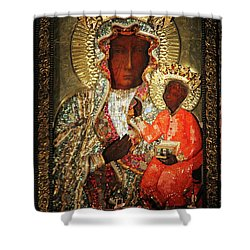 The Black Madonna Shower Curtain by Mariola Bitner