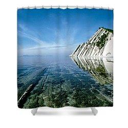 The Black Sea Coast Shower Curtain by Vladimir Sidoropolev