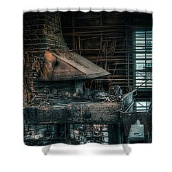 The Blacksmith's Forge - Industrial Shower Curtain by Gary Heller