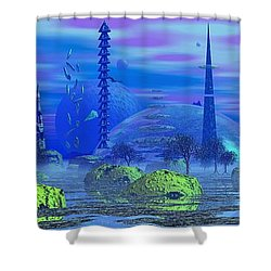 Shower Curtain featuring the photograph The Blerbler Of Bloinblong by Mark Blauhoefer