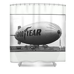 The Goodyear Blimp In 1979 Shower Curtain