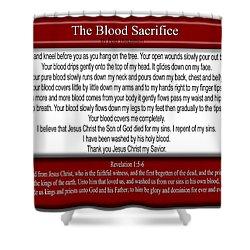 The Blood Sacrifice Shower Curtain