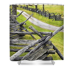 The Bloody Lane At Antietam Shower Curtain