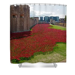 The Bloody Tower Shower Curtain