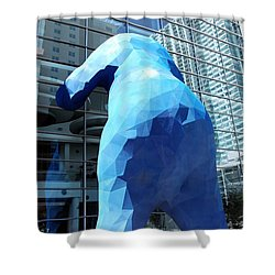 The Blue Bear Shower Curtain