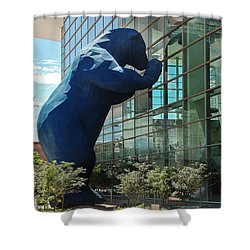 The Blue Bear  Shower Curtain by Dany Lison