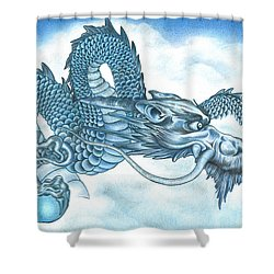 The Blue Dragon Shower Curtain