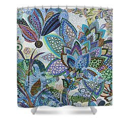 The Blue Flower Shower Curtain