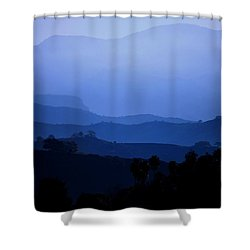 The Blue Hills Shower Curtain by Matt Harang