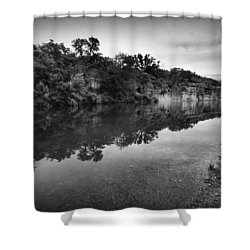 The Blue Hole Shower Curtain by Linda Unger