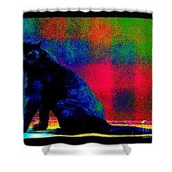 Shower Curtain featuring the photograph The Blue Jaguar by Susanne Still