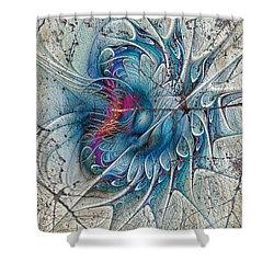 The Blue Mirage Shower Curtain by Deborah Benoit