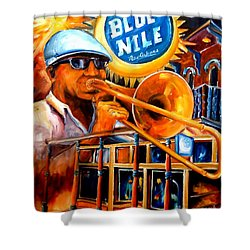 The Blue Nile Jazz Club Shower Curtain