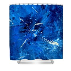 Shower Curtain featuring the painting The Blues by Carolyn Repka