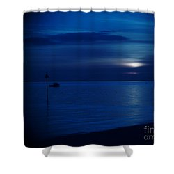 The Blues Shower Curtain by Vicki Spindler
