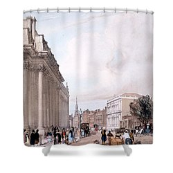 The Board Of Trade, Whitehall Shower Curtain by Thomas Shotter Boys