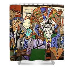 The Board Room Shower Curtain by Anthony Falbo