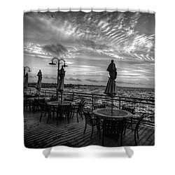 The Boardwalk Shower Curtain by Linda Unger