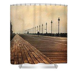 The Boardwalk Shower Curtain by Lori Deiter